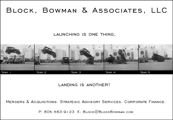 Block, Bowman & Associates, LLC - 'Launching is one thing, landing is another!'